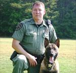 DFC Billy Hurst with K-9 Major